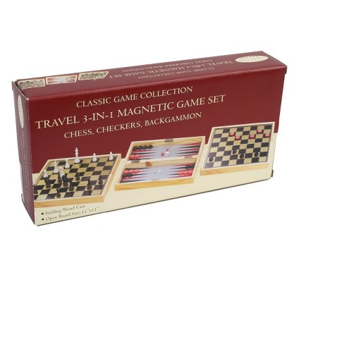 3 In 1 Magnetic Board Game Set - image 1 of 1
