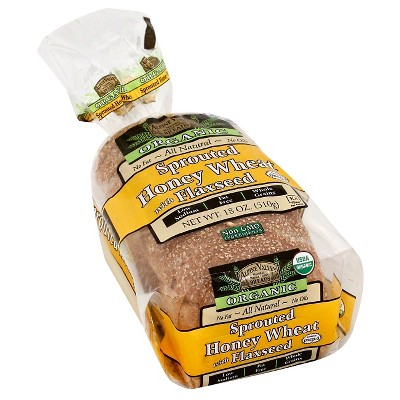 Alpine Valley Organic Sprouted Honey Wheat with Flaxseed Sandwich Bread - 18oz