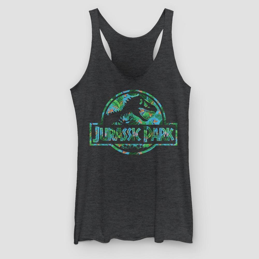 Women's Jurassic Park Movie Logo Tank Top - (Juniors') Black S