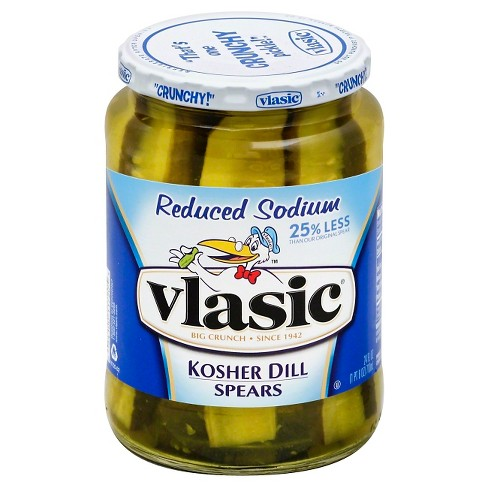 Vlasic® Stackers Reduced Sodium Kosher Dill Spears - 24 fl oz - image 1 of 1