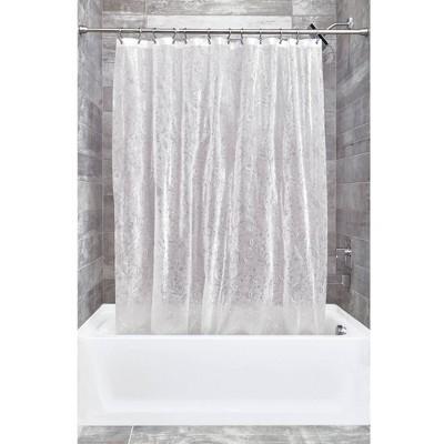 Set of 2 Floret Eva Shower Curtain Liners White - iDESIGN