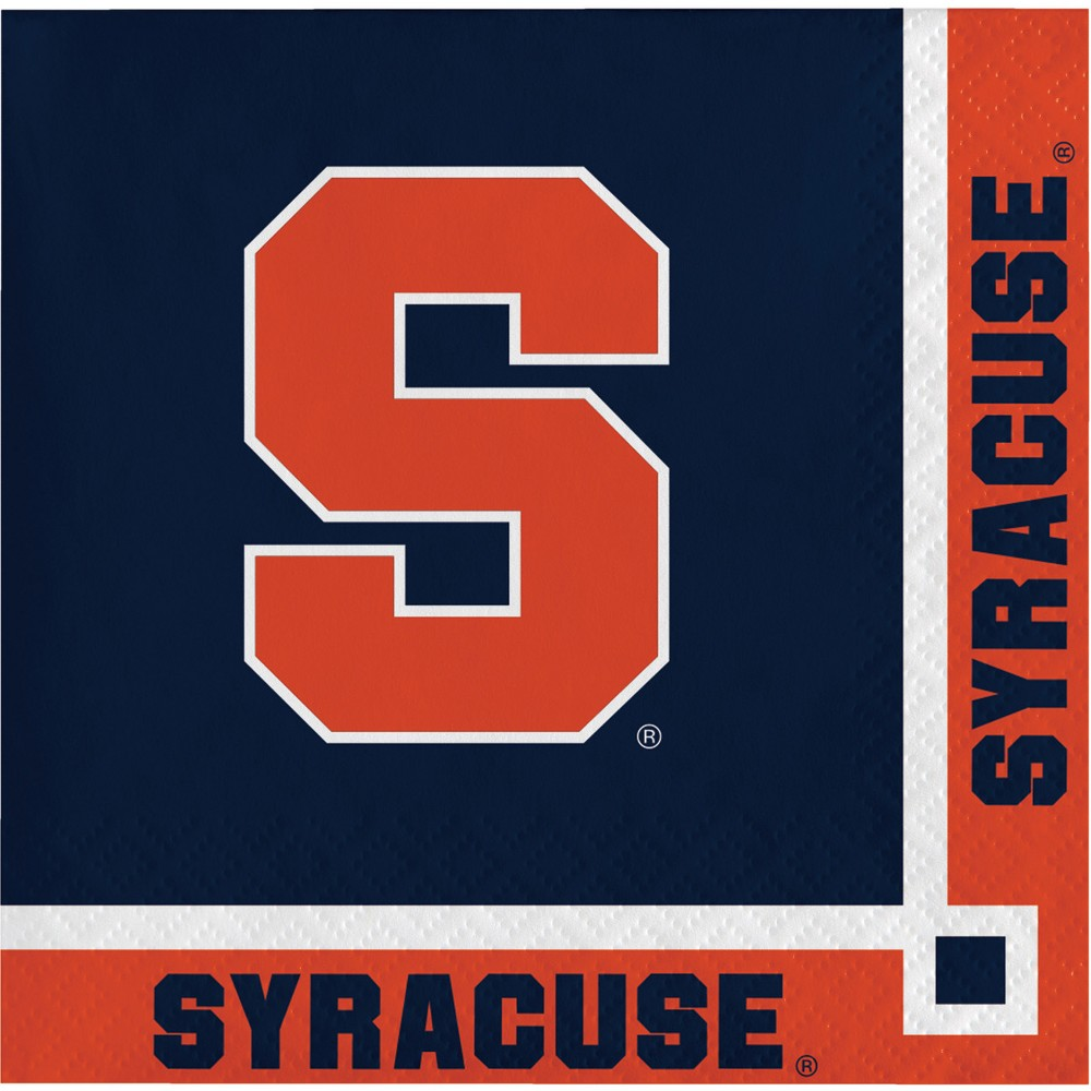 20ct Syracuse Orange Beverage Napkins