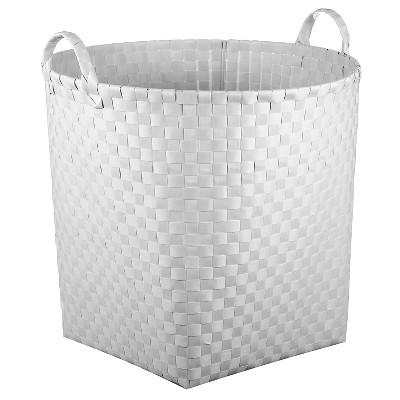 Round Woven Floor Toy Storage Bin White - Pillowfort™