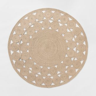 6' Round Woven Outdoor Rug Natural - Opalhouse™