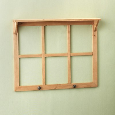 Lakeside Decorative Window Pane with Accessory Shelf - Antique Home Decor