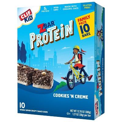 CLIF Kid ZBAR Protein Cookies 'N Creme Snack Bars - 12.7oz/10ct