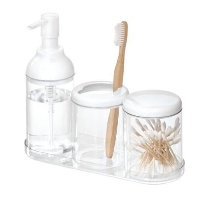 4pc Finn Bathroom Set Clear - iDesign