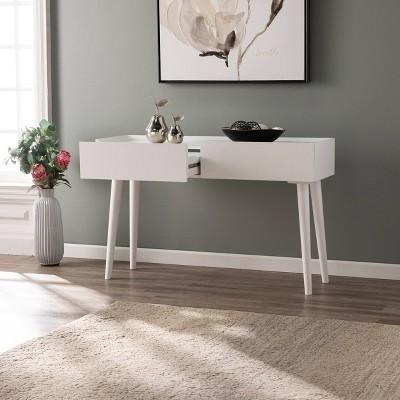 Leverdan Bright White Console Table White - Aiden Lane