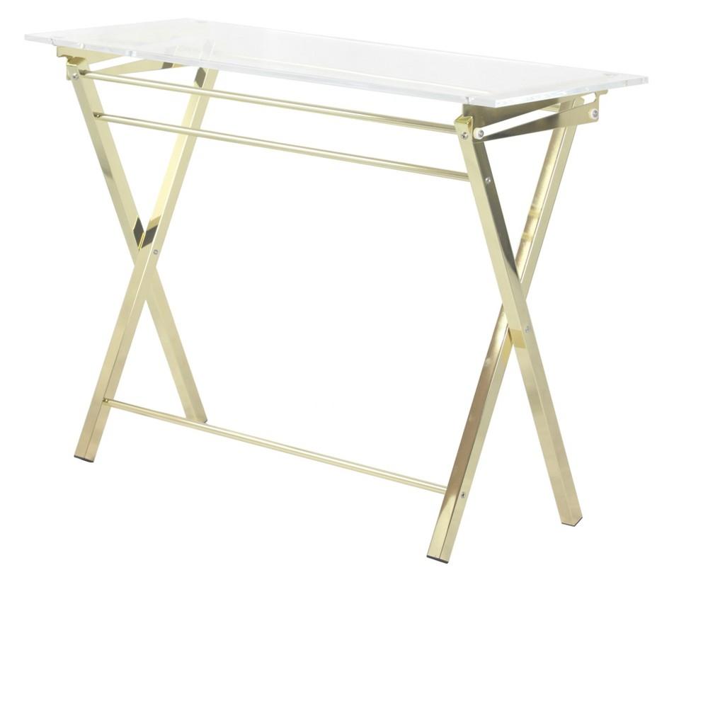 Hamilton Home Novo Console Table - Gold/Chrome