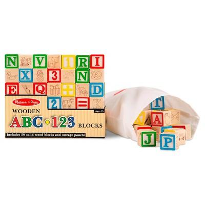 Melissa & Doug® Wooden ABC - 123 Blocks