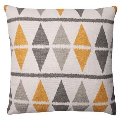 """Pillow Perfect Ikat Argyle Birch Throw Pillow - 16.5""""x16.5"""" - Gray"""