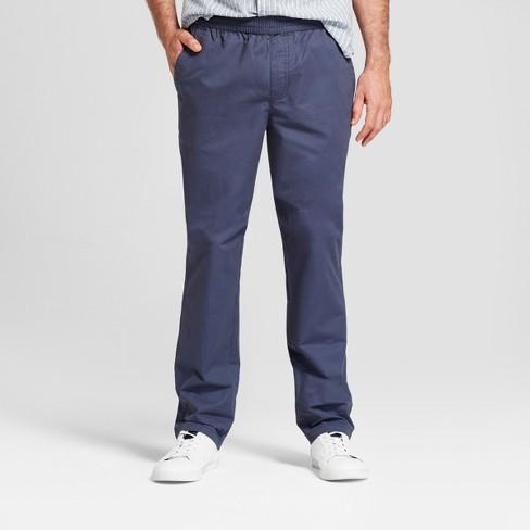 Men's Knit Drawstring Pants - Goodfellow & Co™ Geneva Blue L - image 1 of 3