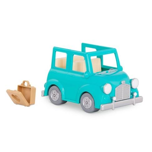Li'l Woodzeez Blue Car with Suitcase - image 1 of 4