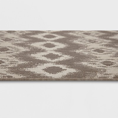5' x 7' Ikat Outdoor Rug Taupe - Threshold™