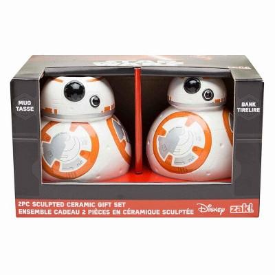License 2 Play Inc Star Wars: The Force Awakens BB-8 Sculpted Ceramic Gift Set: Mug and Bank