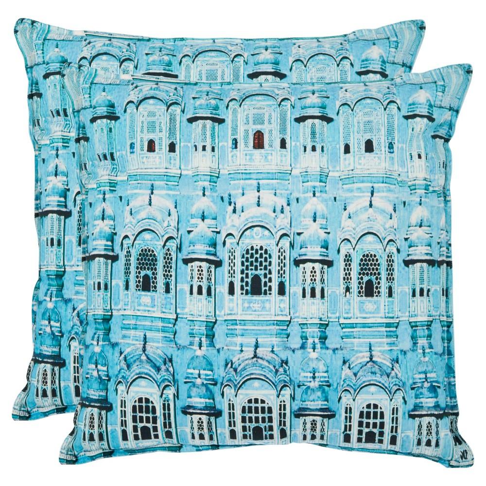 Aqua Set Throw Pillow (1'8