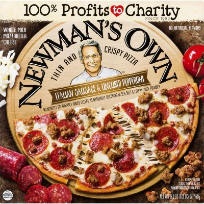 Newman's Own Thin & Crispy Italian Sausage & Pepperoni Frozen Pizz - 16.5oz