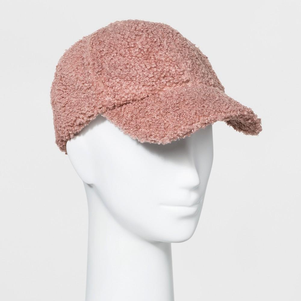Women's Baseball Hat Sherpa - Universal Thread Blush Peach