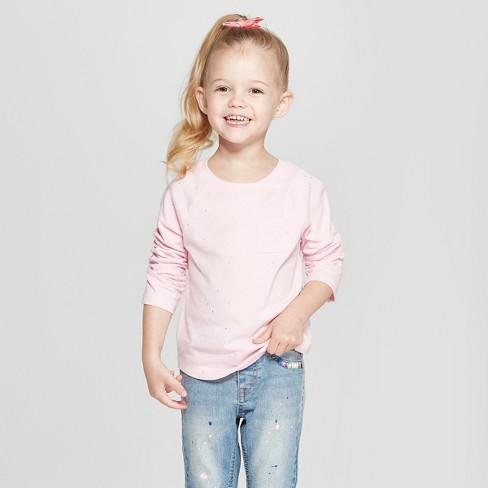 967769e342d Toddler Girls  Long Sleeve T-Shirt - Cat   Jack™ Light Pink Sparkle ...