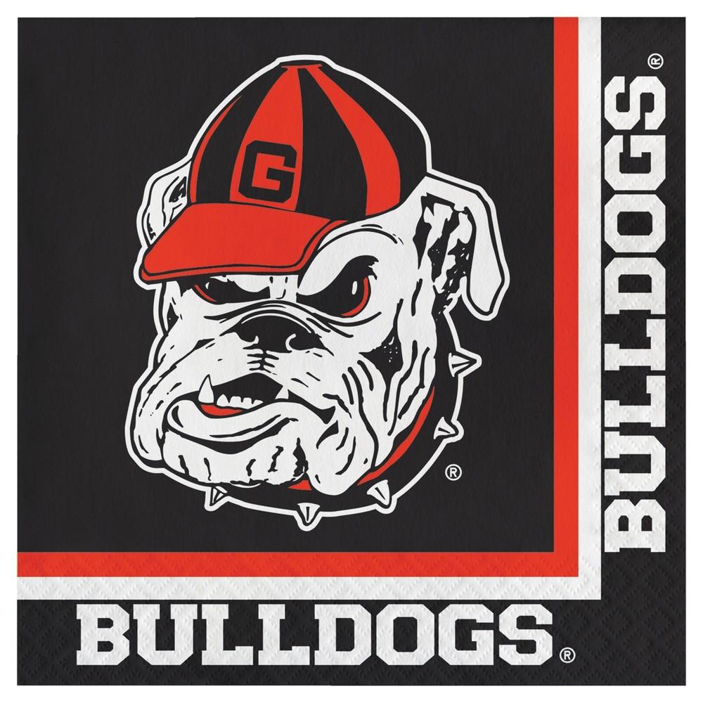 20ct University Of Georgia Bulldogs Napkins