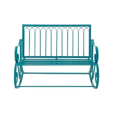 Metal Rocking Garden Bench - Olivia & May