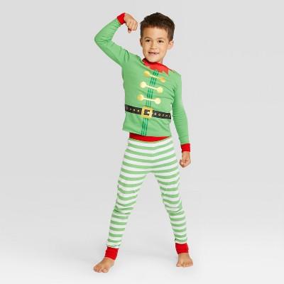Kids' Holiday Elf Pajama Set - Wondershop™ Green 12