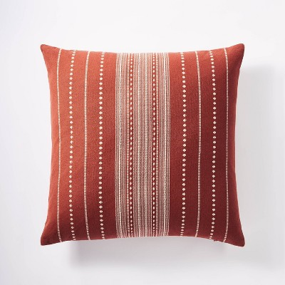 Oversized Woven Textured Square Throw Pillow - Threshold™ designed with Studio McGee