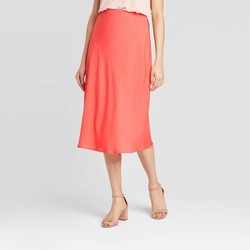 Women's Mid-Rise Satin Slip Skirt - A New Day™