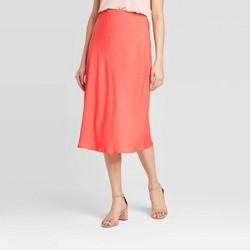 Women's Mid-Rise Satin Slip Skirt - A New Day™