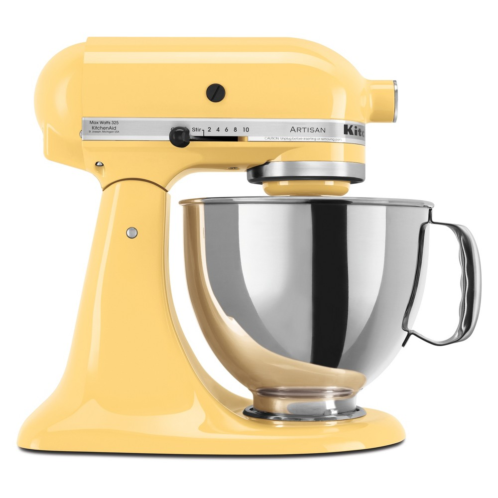 KitchenAid Refurbished 5qt Artisan Stand Mixer Majestic Yellow – RRK150MY 53960983