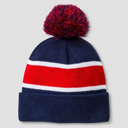Boys  Striped Beanie - Cat   Jack™ Navy Red One Size   Target 2522285dac6