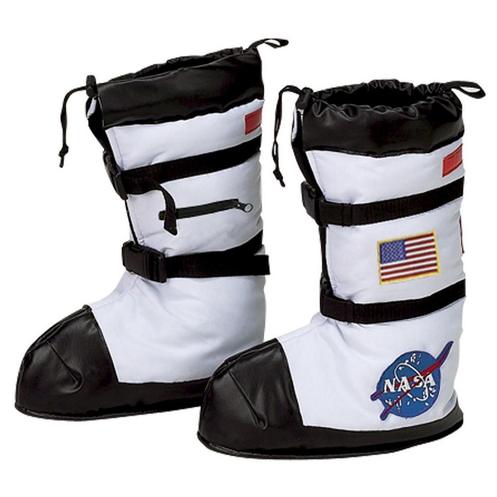 Kids' Halloween Nasa Astronaut Boot Covers White Costume - Large, Kids Unisex