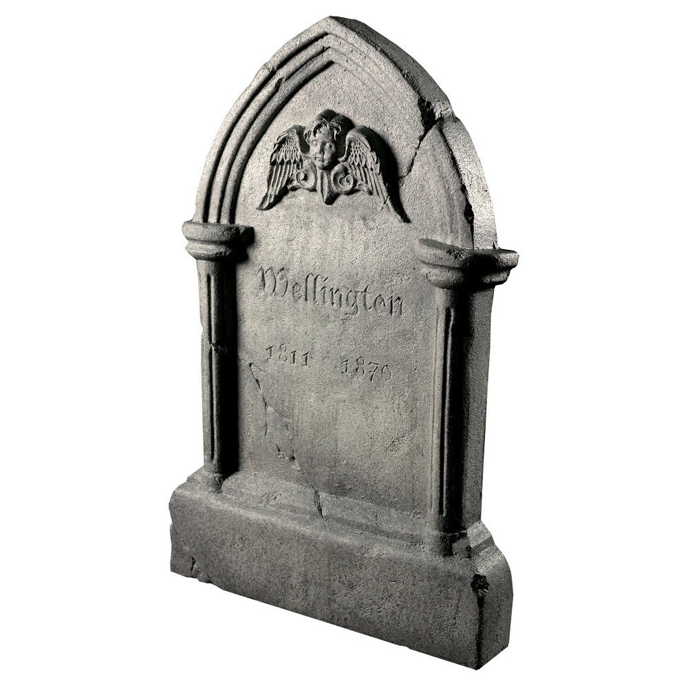 Image of Halloween Tipping Tombstone Frightronic, Multi-Colored
