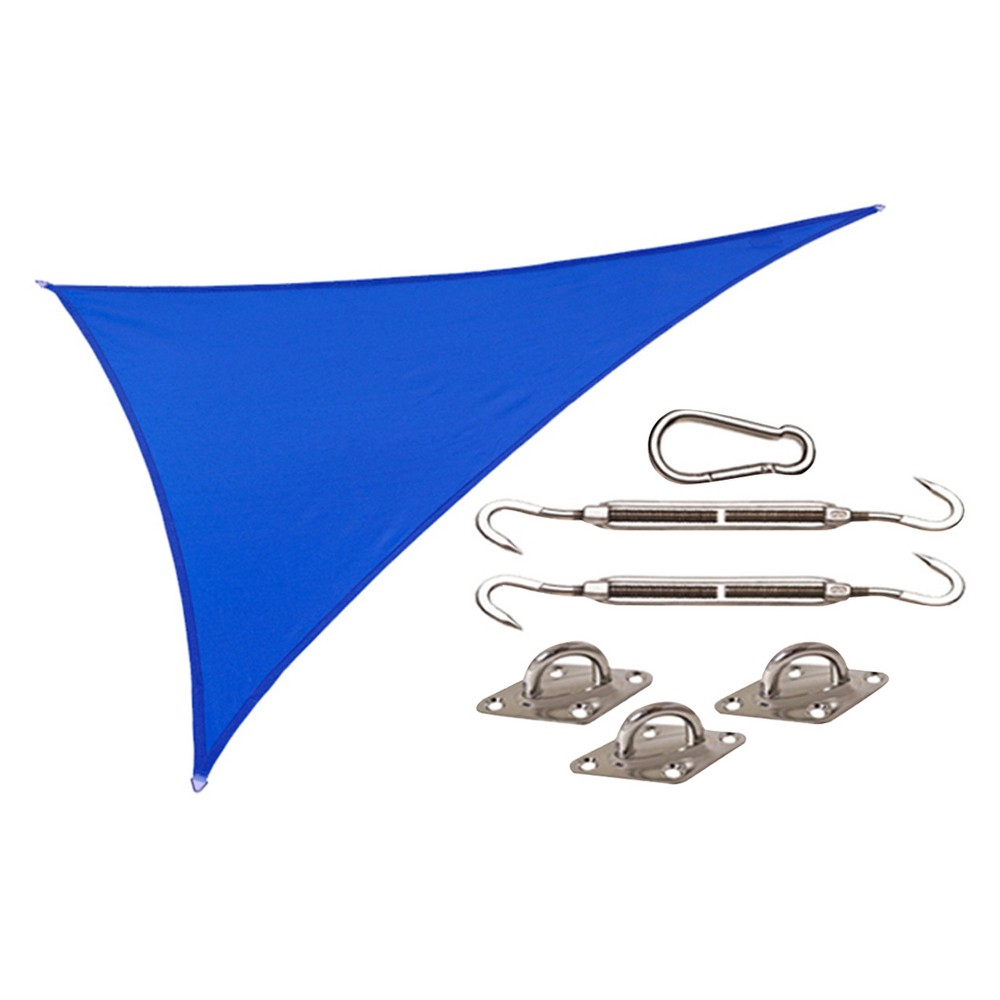 Image of Coolhaven Shade Sail Kit Right Triangle 15'x12'x9' - Sapphire (Blue) - Coolaroo