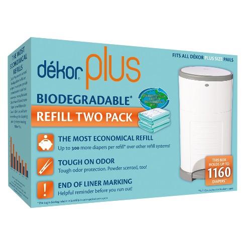 Dekor Plus Diaper Pail Biodegradable Refills - 2pk - image 1 of 3