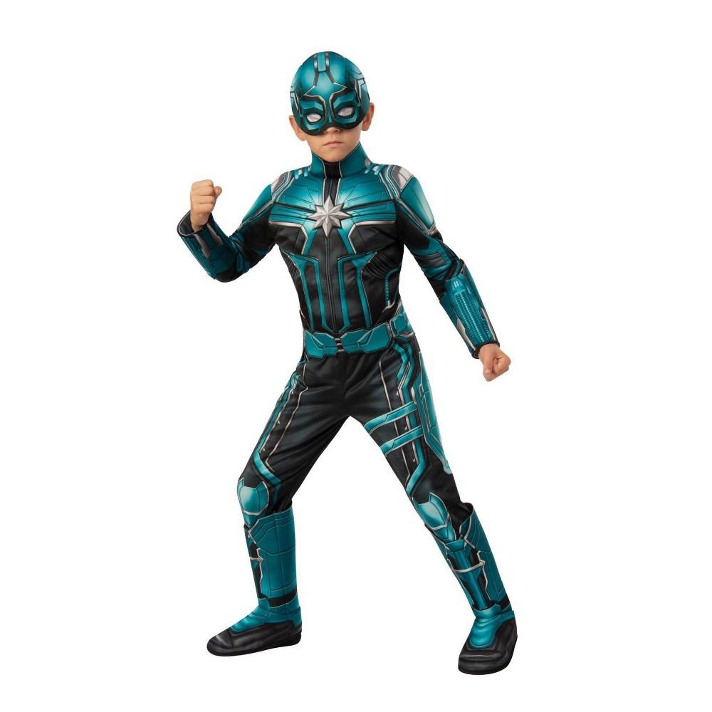 Image of Halloween Boys' Captain Marvel Yon Rogg Deluxe Halloween Costume M, Boy's, Size: Medium, MultiColored