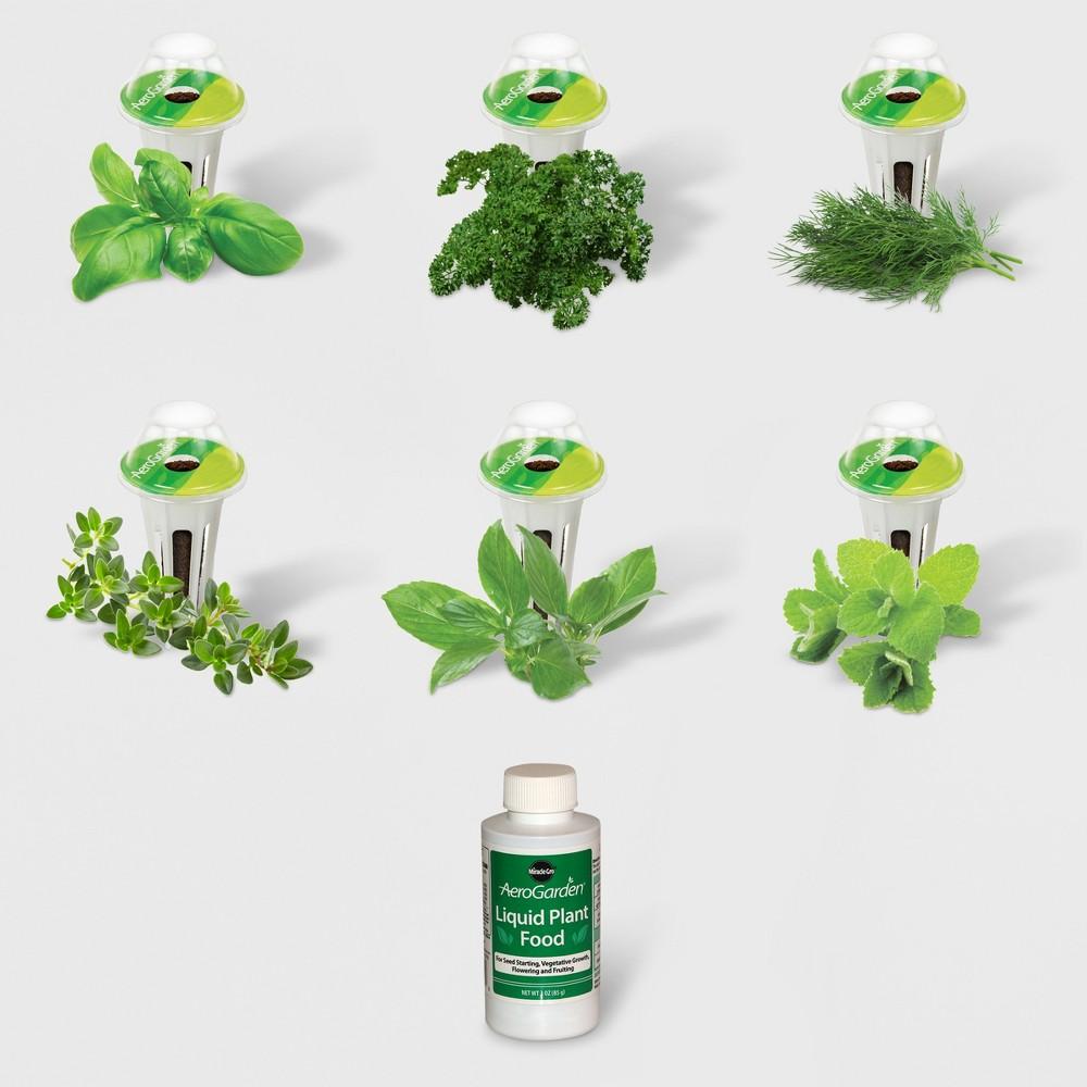Image of Gourmet Herbs 6 Pod Seed Kit - AeroGarden, Green