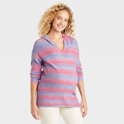 Hoodie Pullover Maternity Sweater - Isabel Maternity by Ingrid & Isabel™ Pink