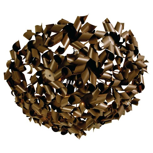 Pinwheel 8 Light Ceiling/Wall Fixture - Chocolate Bronze - image 1 of 4