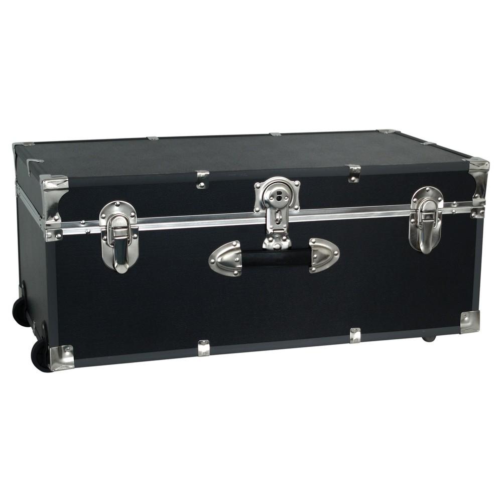 "Image of ""Advantus 30"""" Footlocker Storage Trunk With Wheels Black"""