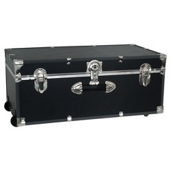"Advantus 30"" Footlocker Storage Trunk With Wheels"