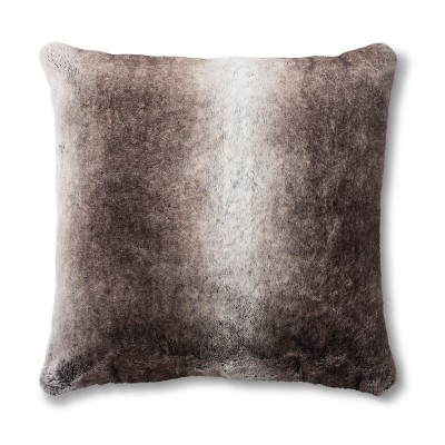 Neutral Faux Fur Euro Pillow - Fieldcrest®