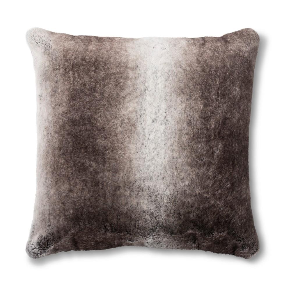 Neutral Faux Fur Euro Pillow - Fieldcrest