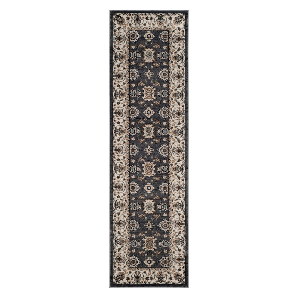 22X8 Floral Loomed Runner Gray/Cream - Safavieh Compare