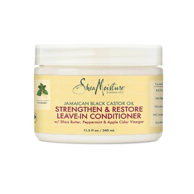 SheaMoisture Leave In Conditioner for Over-Processed Damaged Hair 100% Pure Jamaican Black Castor Oil - 11.5 fl oz