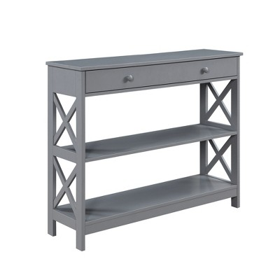 Oxford 1 Drawer Console Table Gray - Johar Furniture