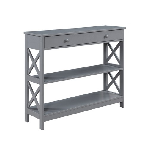 Oxford 1 Drawer Console Table Gray - Johar Furniture - image 1 of 9