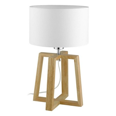 1-Light Chietino Table Lamp with Fabric Shade Natural/White - EGLO