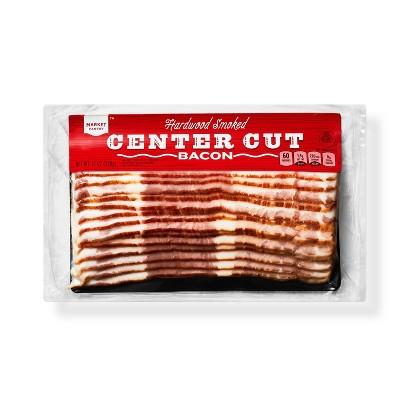 Hardwood Smoked Center Cut Bacon - 12oz - Market Pantry™