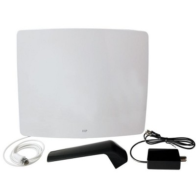 Monoprice Active Curved HD5 HDTV Antenna, 60 Mile Range